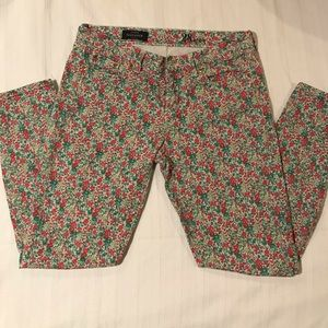 J.Crew floral design ankle pants